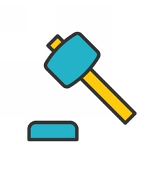 Auction outline icon vector