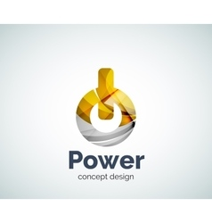 Power button logo template vector image