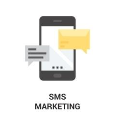 mobile marketing icon vector image