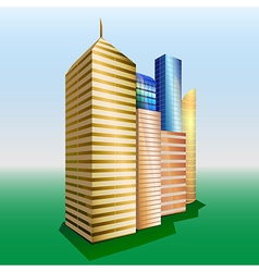 Buildings cityscape vector