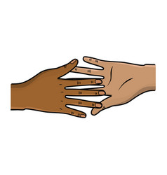Hands giving the peace and friendship vector