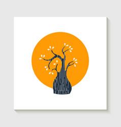 Simple cute tree shape concept vector