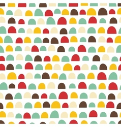 Seamless abstract texture with funny elements vector