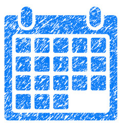 calendar appointment grunge icon vector image