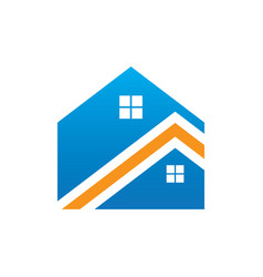 Roof home building logo vector