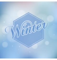 Stylish winter seasonal card design vector
