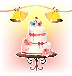 wedding cakevec vector image