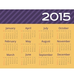 2015 year calendar editable vector