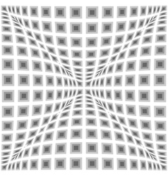 Design monochrome warped checked pattern vector