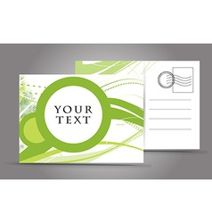 Empty post card vector