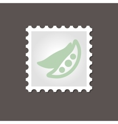 Pea stamp outline vector