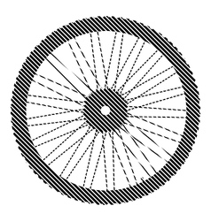 Bicycle wheel sign vector