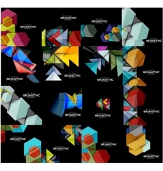 Collection of geometric banners vector