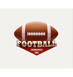 American football lable with realistic objects vector