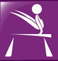 Sport icon for gymnastics on balance bar vector