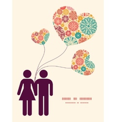 Abstract decorative circles couple in love vector