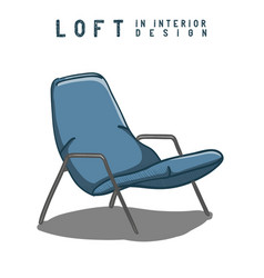armchair in color loft in interior design eps 10 vector image
