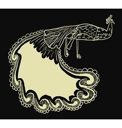 Artistic peacock design vector