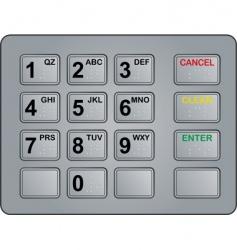 atm keypad vector image vector image