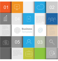 background with squaresbusiness template vector image vector image