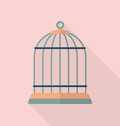 Bird cage flat icon vector image