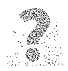 Black Question mark from letters vector image
