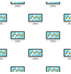 Business graph pattern seamless vector