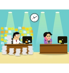 Business life man girl scene vector