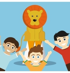 Circus lion design vector