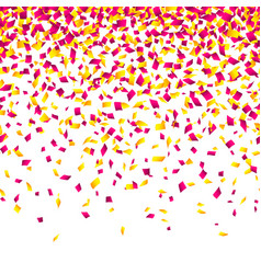 Confetti background horizontally seamless vector