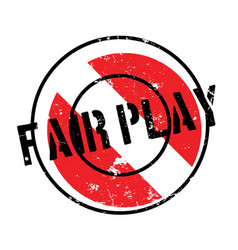 Fair play rubber stamp vector