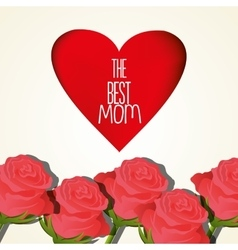 happy mothers day design vector image vector image
