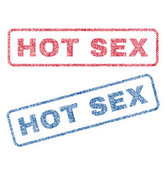 hot sex textile stamps vector image