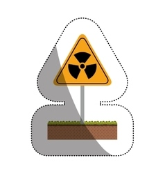 Isolated biohazard design vector
