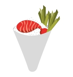 japanese food isolated icon design vector image