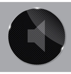 media glass icon vector image