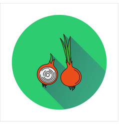Onion simple icon on white background vector