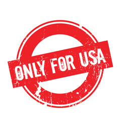 only for usa rubber stamp vector image vector image