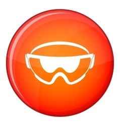 Safety glasses icon flat style vector