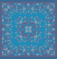 Scarf print design delicate cute flowers square vector