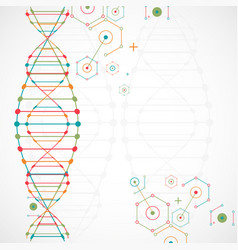 Science template wallpaper or banner with a dna vector