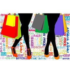 Shopping template vector
