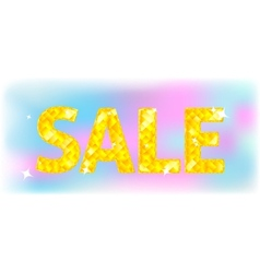 sign of diamond word - Sale vector image vector image