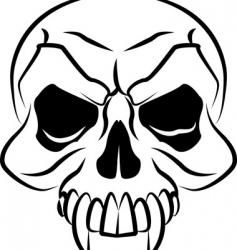 skull illustration vector image