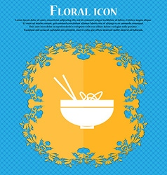 Spaghetti icon sign floral flat design on a blue vector