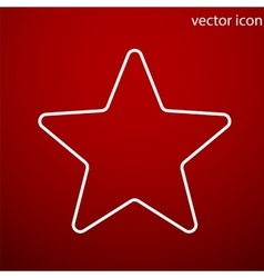 Star icon and jpg Flat style object Art vector image