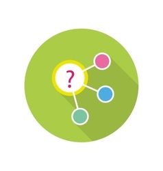 Strategic management icon vector