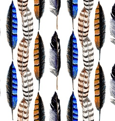 Striped feather2 vector image vector image