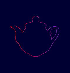 tea maker sign line icon with gradient vector image vector image