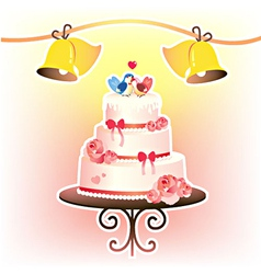 Wedding cakevec vector